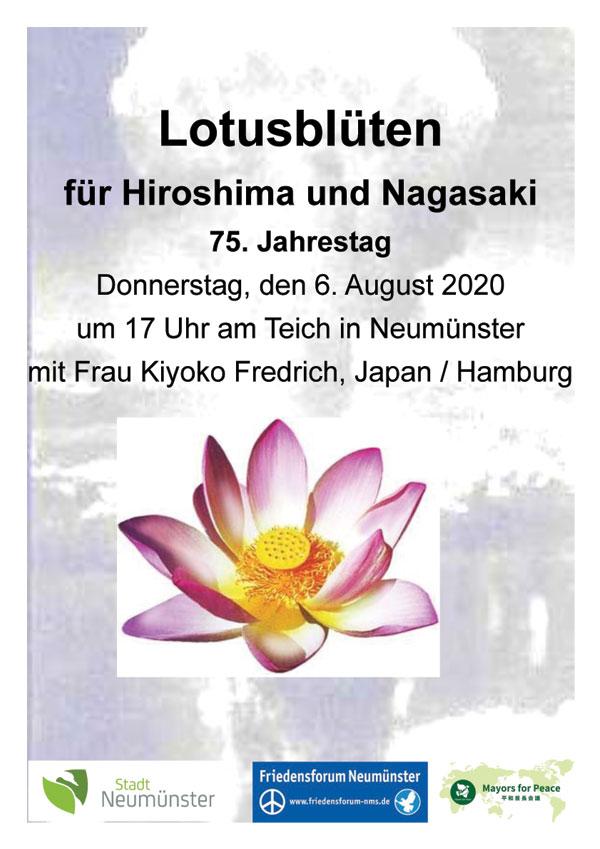 Hiroshima-Gedenktag in Neumünster