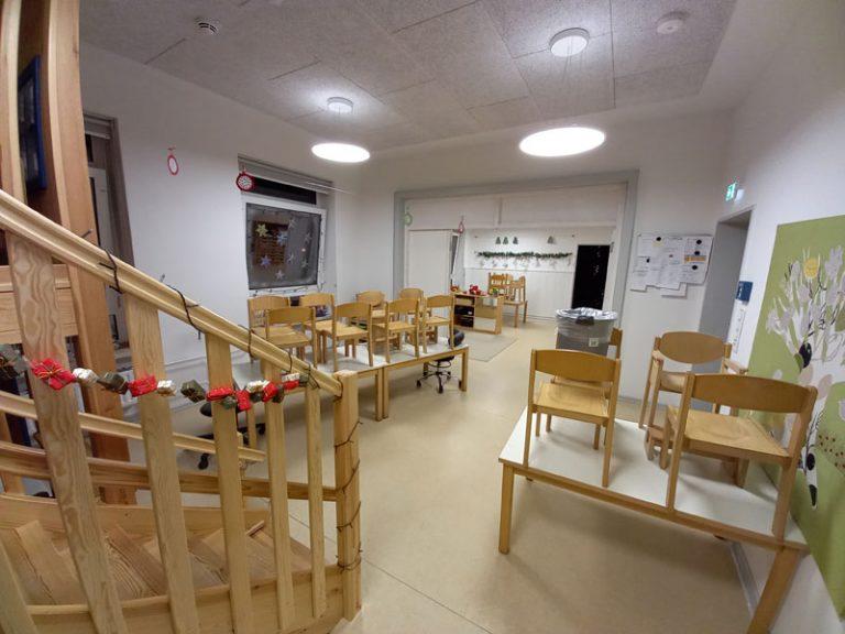 Altbau der Kita Schwedenhaus saniert